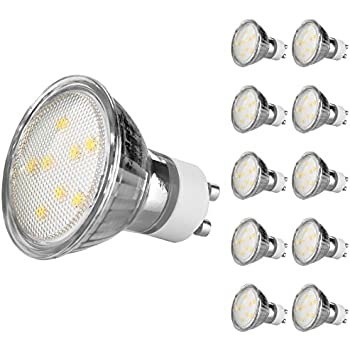ascher 10er pack gu10 led 4w lampe vgl 50w halogen 420 lumen gu10 led warmwei led. Black Bedroom Furniture Sets. Home Design Ideas