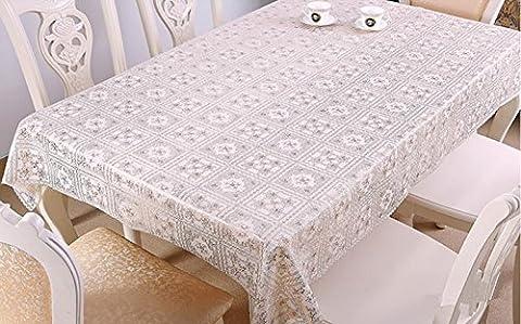 Transparent mat en plastique PVC nappes doux couvertures de table en PVC en verre cristal étanche,