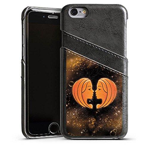 Apple iPhone 6 Housse Étui Silicone Coque Protection Signes du zodiaque Jumeaux Gémeaux Étui en cuir gris