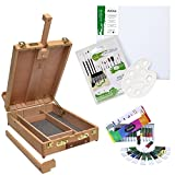 """Daler Rowney - Set per pittura completo da 30 pezzi con cavalletto da tavolo - cavalletto """"Edinburgh"""""""