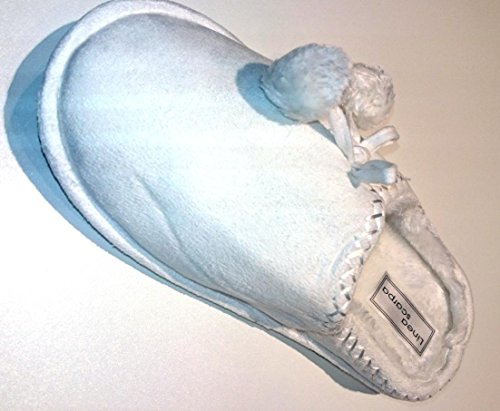linea-scarpa-restposten-reductions-pantoufle-chaud-avec-fausse-fourrure-tux-femme-blanc-femme-38-39-