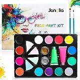 Janolia Pintura Facial, Pintura Corporal con 14 Colores Normales, 2...