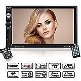 2 Din Autoradio, LESHP 7 Zoll HD 1080P Touchscreen Auto Radio mit Rückfahrkamera, Autoradio MP5 Spieler unterstützt Mirrorlink / Bluetooth / Freisprecheinrichtung / 7 LED Beleuchtungsfarben / AM / FM / RDS Radio Tuner / USB / TF / Aux in / Ausgabe