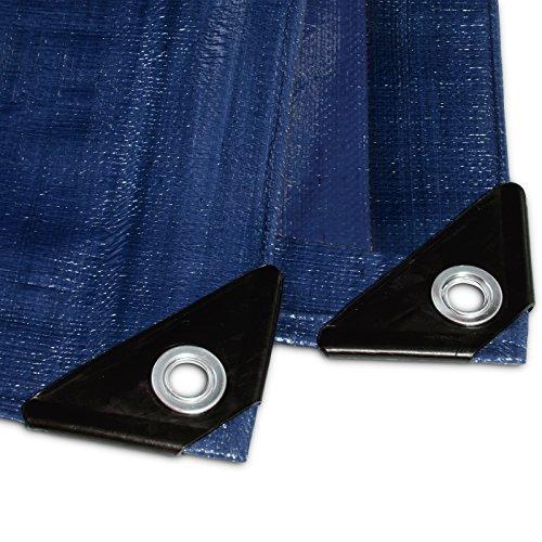 Abdeckplane gewebeplane PP/PE blau 260 gramm Abdeckplane wasserfest (6 x 10 m)