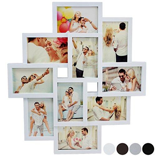 Decorare una parete con le foto idee per arredare con le for Cornici foto multiple
