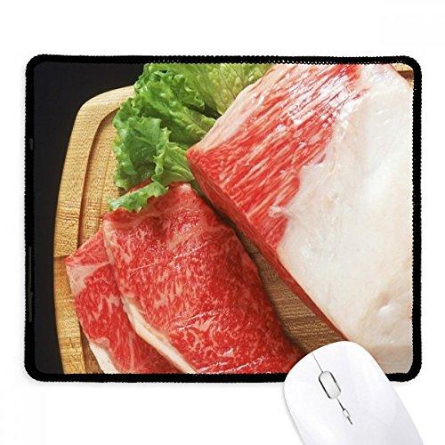 DIYthinker Lammkeule rohes Fleisch Lebensmittel Texture Non-Slip Mousepad Spiel Büro Schwarz...