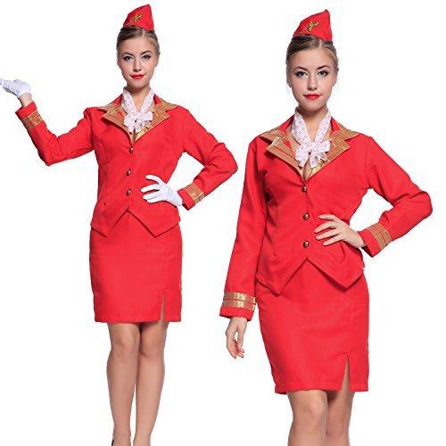 cosplay-vestito-carnevale-sexy-hostess-assistente-di-volo-rosso-tuta-cappello-taglia-s
