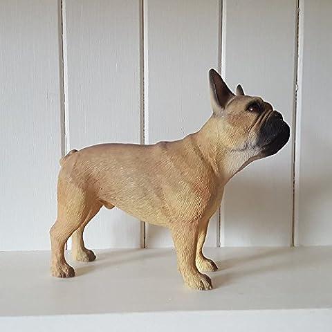 Leonardo colección francés de cervatillo adorno Bull Dog, piedra, marrón