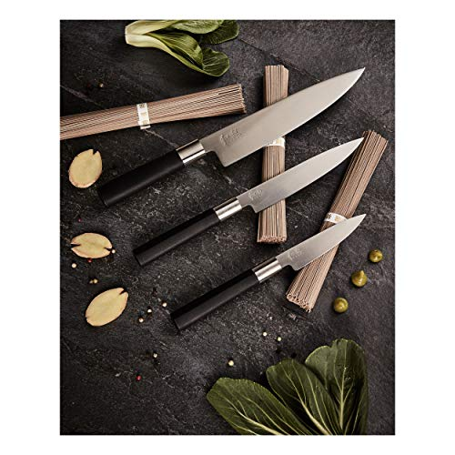 Kai 67EB-W18Wasabi Black–Juego de cuchillos, acero inoxidable, color negro