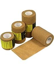YuMai Bandage Cohésif 7.5cm - Bandage Gaze Auto-adhésif Flexible Sportif Médical Vétérinaire pour Animaux Chien Blessures Athlètes, 6 rouleaux - Nu