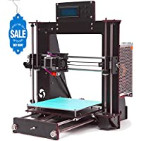 GUCOCO A8 3D Printer Upgraded Full Quality High Precision Reprap Prusa i3 DIY 3D Printer with 1.75mm ABS/PLA Filament(Build Size 200×200×180mm)