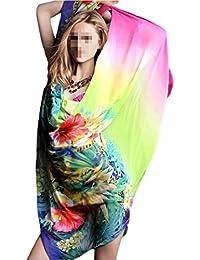 """Antemi - Femmes - Paréo d'été très coloré avec motif floral """"Sohy"""" - Multicolore"""