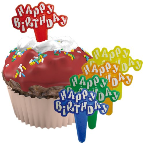 Dekoback 03-10-00003 12 Muffinsticker Happy Birthday