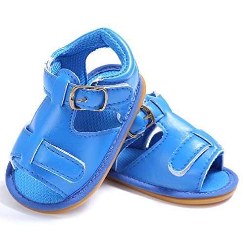 Scarpe per bambini Koly_Bambino neonato della ragazza dei ragazzi Culla del bambino appena nato Sandali Scarpe Blue
