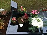 Urnengrab Grabstein mit Einfassung 60cm x 80cm Urnengrabstein mit Grabeinfassung Grabstein Granit Grabumrandung Grabsäule inklusive Gravur