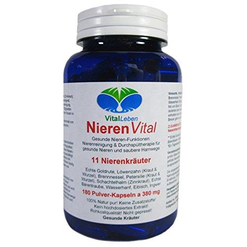 Nieren Vital, 11 Nierenkräuter, 180 Pulver-Kapseln a 380mg, #25486 Test