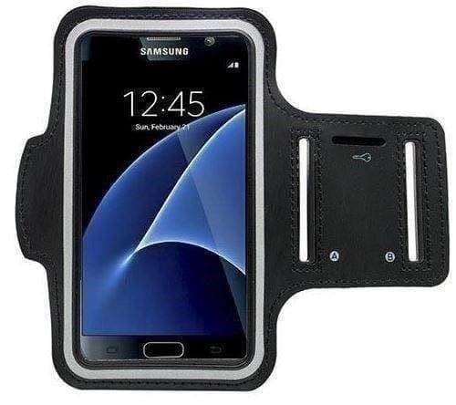 CoverKingz Armtasche für Samsung Galaxy S7 Sportarmband mit Schlüsselfach, Laufarmband, Sport Handyhülle, Handy Armband Schwarz