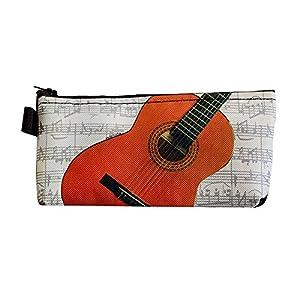 Trousse décorée d'une guitare - Anne Fuzeau Création