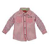BONDI Baby Jungen Langarm Trachtenhemd Rot/weiß Kariert Artnr. 91065 Größe 68