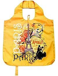 B.B.Begonia A80111920 Getaway Printed Reusable Shopping Bag - 19.5 X 16.5 In. Pack Of 3
