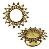 Chic-Net Brass Tunnel Antique Golden Cercles feuilles bord sans Nickel Plug Organic Boucles d'oreilles Bijoux Laiton 04 mm