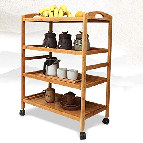 Anna Étagères de Cuisine Le Stockage Mobile et Simple de Chariot de Cuisine de Diner de Mobile étire Le Chariot de thé de Cuisine à la Maison (Taille : 4 Layers)