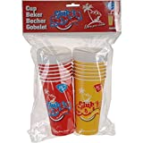 Direct Global Trading Groovy Set of 12 Paper Party Drinks Cups with Lids