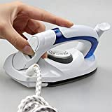 Zagmagat Travel Folding Handel Portable Powerful Mini Electrical Steam Iron Press,White
