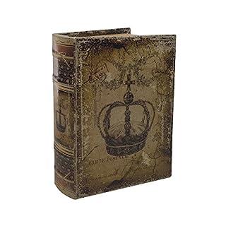 zeitzone Hohles Buch mit Geheimfach Krone Antik-Stil Buchversteck Aufbewahrungsbox 23cm