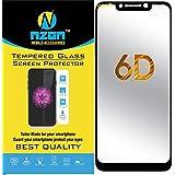 nzon Redmi Poco F1 Tempered Glass 6D Screen Protector Black Pack of 1 (NZ-SLTG6DBK-8378 Poco F1) (6D Black)