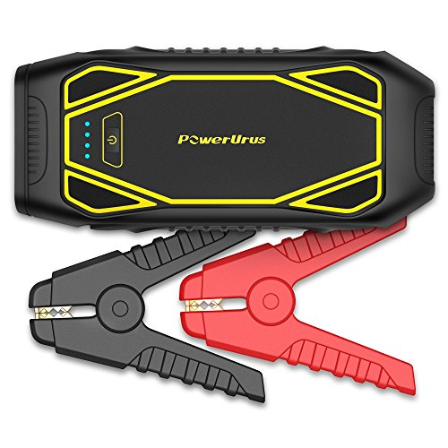 Car Jump Starter PowerUrus IP66 Portable Car Battery Booster 1600A Peak (Up to 10L Gas, 6.5L Diesel) Quick Charge 3.0 Power Bank 12V DC Power Pack