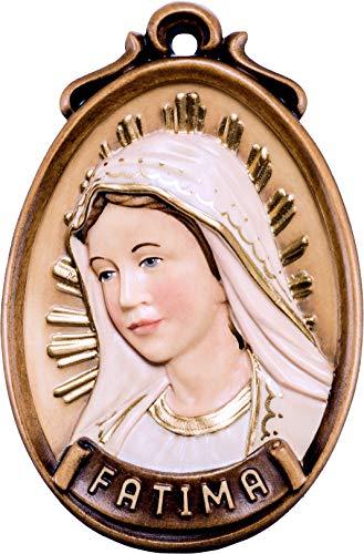 Ferrari & Arrighetti Medaglione Busto Fatima - Demetz - Deur - Statue aus Holz von Hand bemalt. Leuchthöhe 9 cm (Fatima-statue)