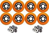 OUTDOOR Inline Skate Wheels 72MM 89a ORA...