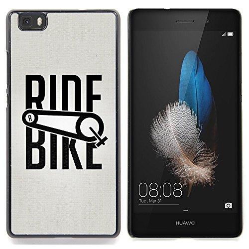 For Huawei Ascend P8 Lite (Not for Normal P8) Case , Giro in bicicletta di sport della bicicletta di esercitazione Ciclista - Design Pattern Duro Staccabile Stile Telefono Cellulare Nuovo Caso Cover Guscio Duro
