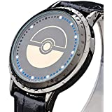 Skylynn Anime Pokemon Cosplay Armbanduhr unisex Mode LED-Touchscreen Wasserdichte Uhr Geburtstagsgeschenk Uhren