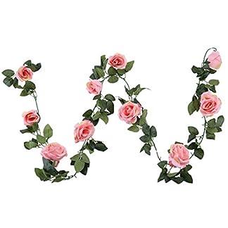 Guirnalda de flores artificiales de seda Houda, diseño clásico, para colgar en paredes o como decoración de boda, 1 unidad