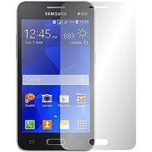 "2 x Slabo protector de pantalla Samsung Galaxy Core 2 lámina protectora de pantalla lámina protectora ""Ultra Transparente"" invisible MADE IN GERMANY"