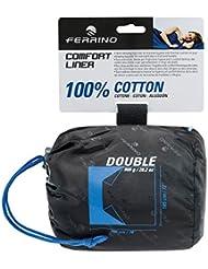Ferrino Comfort Liner Double Sacco Lenzuolo, Blu, Doppio