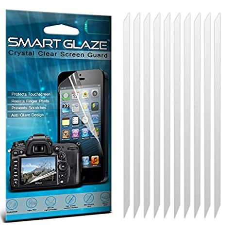 ONX3® SmartGlaze Samsung Galaxy S2 i9100 étui Cover Case Custom Made Protections d'écran Crystal Clear LCD haut de gamme packs avec Chiffon & Demande de carte