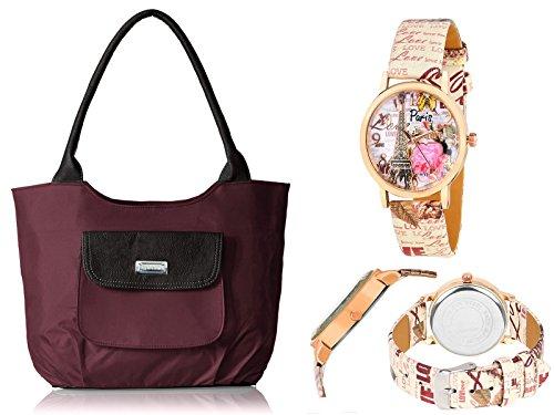 Right Choice women's fashion,shoulder,handbag,5no heavy zip, purple (RCH3.17)