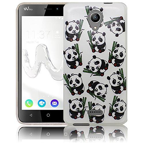 Wiko Freddy Kleine Panda Bären Silikon Schutz-Hülle weiche Tasche Cover Case Bumper Etui Flip smartphone handy backcover Schutzhülle Handyhülle thematys®