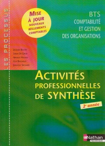 Activités professionnelles de synthèse (processus) BTS CGO 2e année