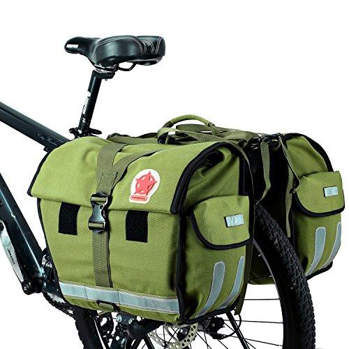 DCCN Borse Doppia Posteriori E Bauletti Per Bicicletta Borsa portabagagli posteriore per bici 45L Borsa portabagagli per bici con copertura antipioggia