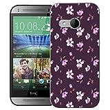 Mobile Case Mate HTC One Mini 2 (m8 mini) Klipp auf schwer Hülle Abdeckung Stoßstange case cover - decorative floral Muster mit Griffel