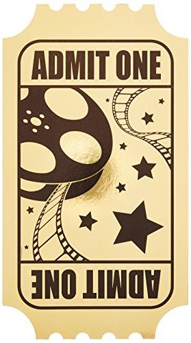 Beistle 502261er Pack Folie Golden Ticket (Academy Awards Party Dekorationen)