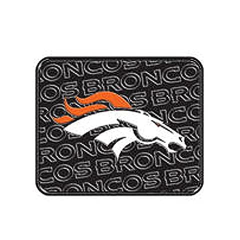 Denver Broncos Car Mats, Rear, Heavy Duty PVC Rubber Twin