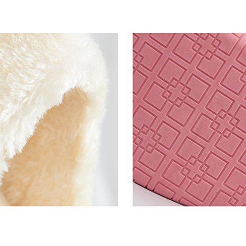 Enveloppé de coton hiver hommes et femmes couple chaud pantoufles Maison épaisse antiquités pantoufles maison Mois chaussures (5 couleurs en option) (modèles masculins et féminins en option) (taille e E