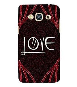 PrintVisa Love Lovely Lover 3D Hard Polycarbonate Designer Back Case Cover for Samsung Galaxy J3 Pro 2016