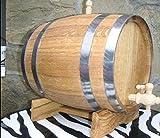 MebliLine Eichenfass, Fass für die Lagerung von Bier, Whisky, Wein. Weinfass, Holzfass, Natürliches Holz (15 liter)