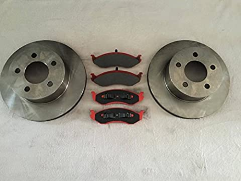 LPB cartouche Nty Disques et Plaquettes de frein en céramique de frein avant Jeep Cherokee XJ 99?01/Jeep Wrangler TJ 99?06